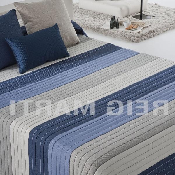 Colcha Reversible Jacquard Linosay CH Azul de Reig Marti. Azul 180