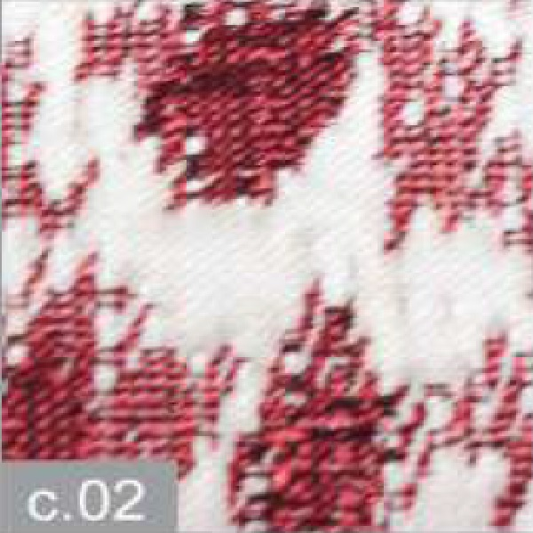 Cojín Jacquard Luba CT de Reig Marti. Granate Cojin 42x42