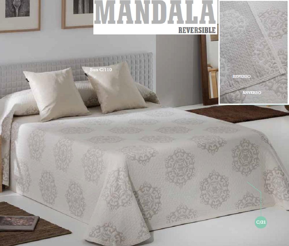 Colcha Reversible Pique MANDALA de EYSA Lino 180