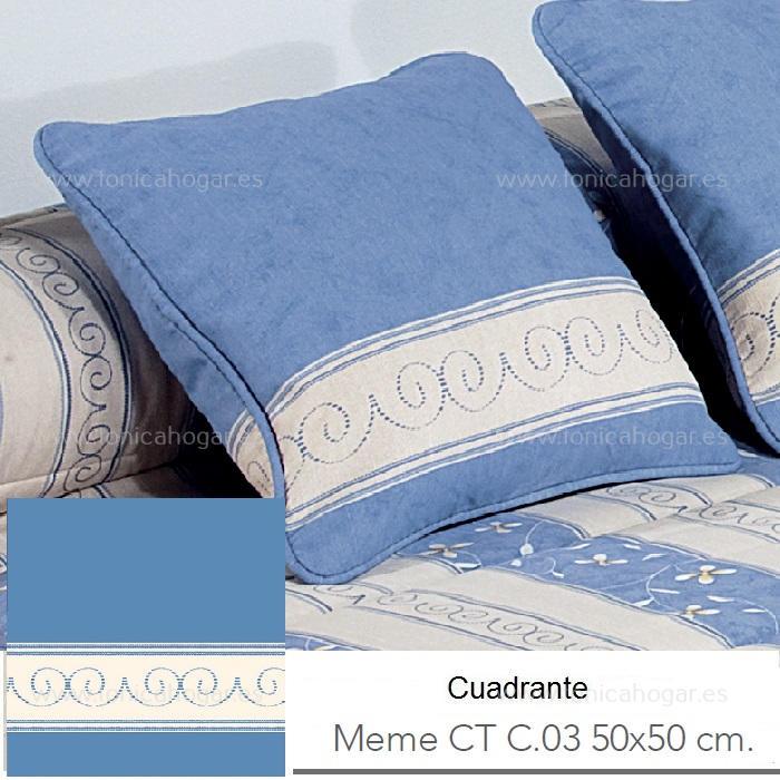 Cojín MEME CT Azul de Reig Marti. Azul Cojín 50x50