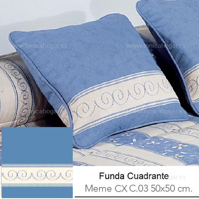 Funda Cojín MEME CX Azul de Reig Marti. Azul Funda Cojín 50x50