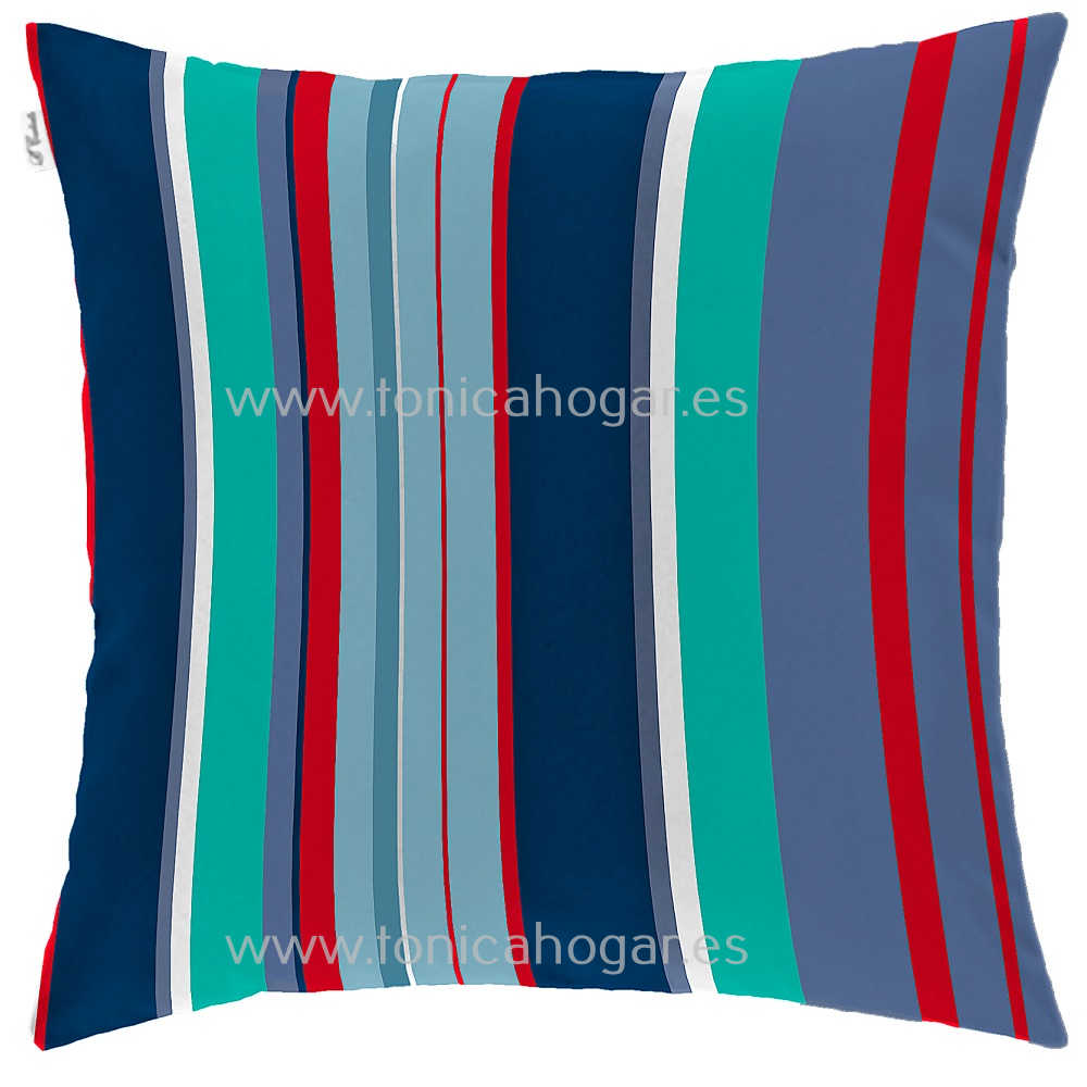Cojín Infantil MONSTERS STRIPE de CAÑETE Multicolor Cojín 50x50 Multicolor Cojín 50x70