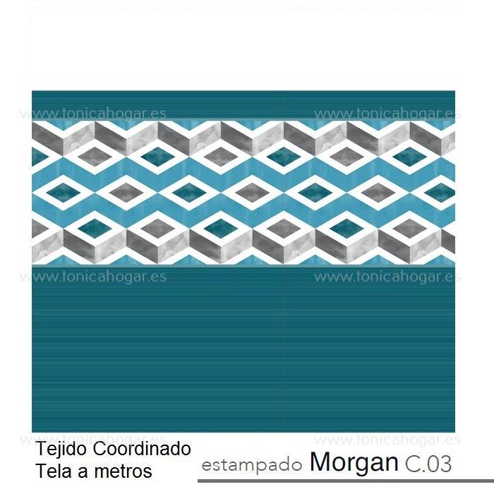 Tejido MORGAN MT Azul de Reig Marti Azulón Tela Alto 280