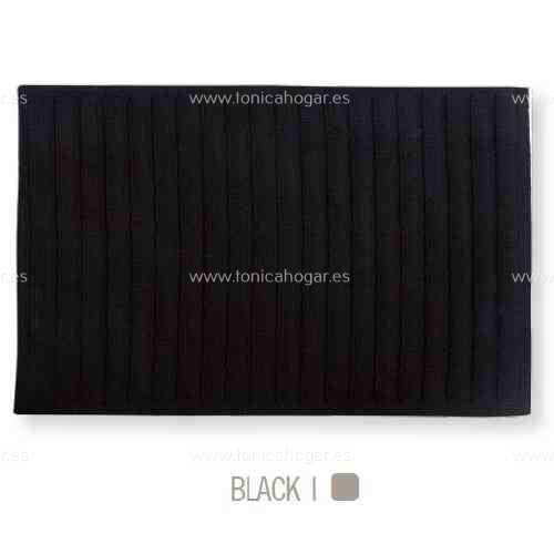 Alfombrilla de Baño New Plus de Sorema Negro Alf.Baño 50x70
