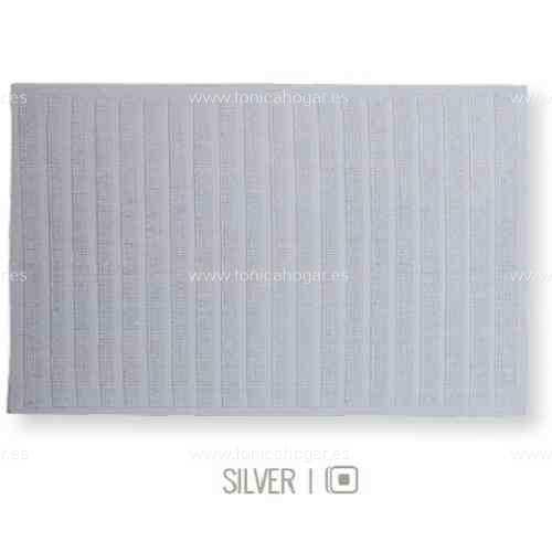 Alfombrilla de Baño New Plus de Sorema Silver Alf.Baño 50x70