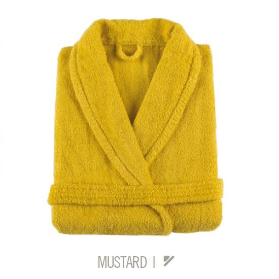 Albornoz de Baño NEW PLUS de Sorema Mustard Talla L/XL