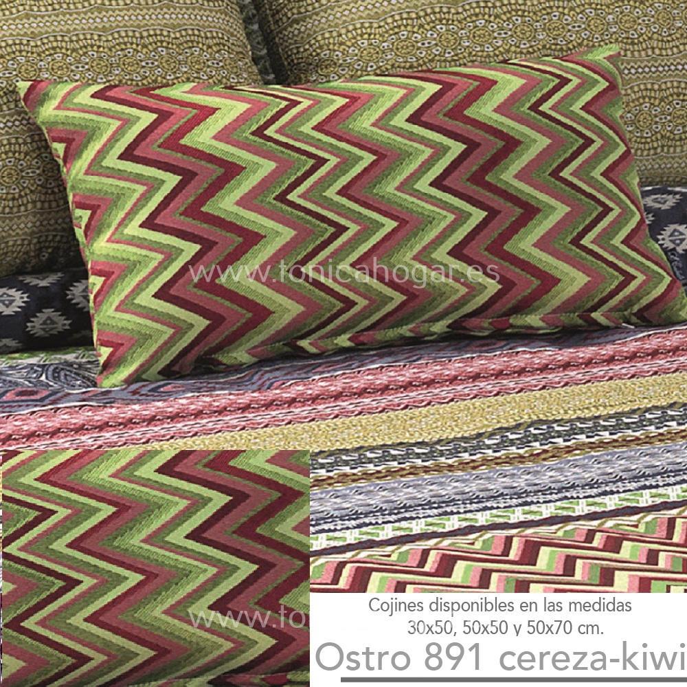 Cojín OSTRO Cereza-Kiwi de CAÑETE Aloe Cojín 30x50 Aloe Cojín 50x50 Aloe Cojín 50x70