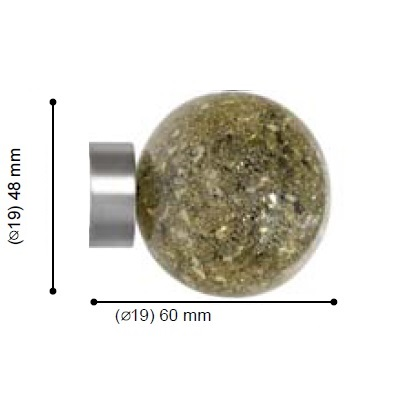 TERMINAL CAVALIER COSMOS BRONCE de ALTRAN Acero Diámetro 19 mm