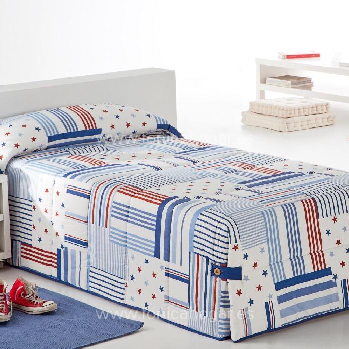 Edredón Conforter PATCH 02 Azul de Reig Marti Azulón 090 Azulón 105