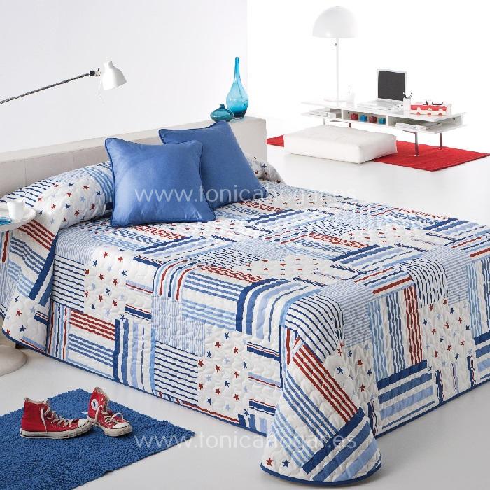 Colcha Boutie PATCH 2P Azul de Reig Marti Azulón 090 Azulón 105