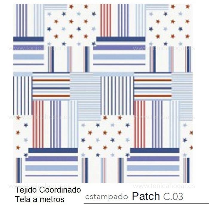 Tejido PATCH MT Azul de Reig Marti Azulón Tela Alto 280