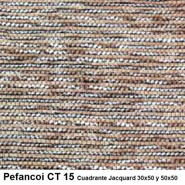 Cojín Jacquard Pefancoi CT de Reig Marti. Marrón claro Cojín 30x50 Marrón claro Cojín 50x50
