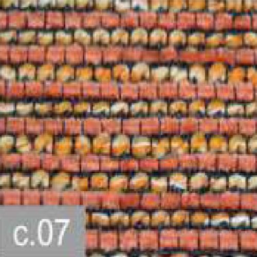 Cojín Jacquard Pefancoi CT de Reig Marti. Naranja Cojin 50x50