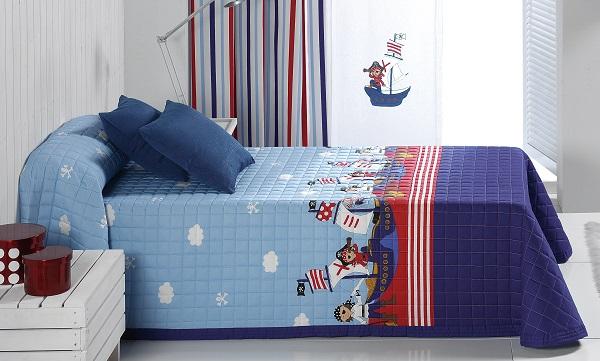 Colcha boutie infantil Piratas 25 de Reig Marti Azul 105