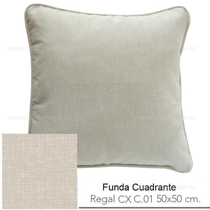 Funda Cuadrante (sin relleno) Regal CX de Reig Marti Lino Funda Cojín 50x50