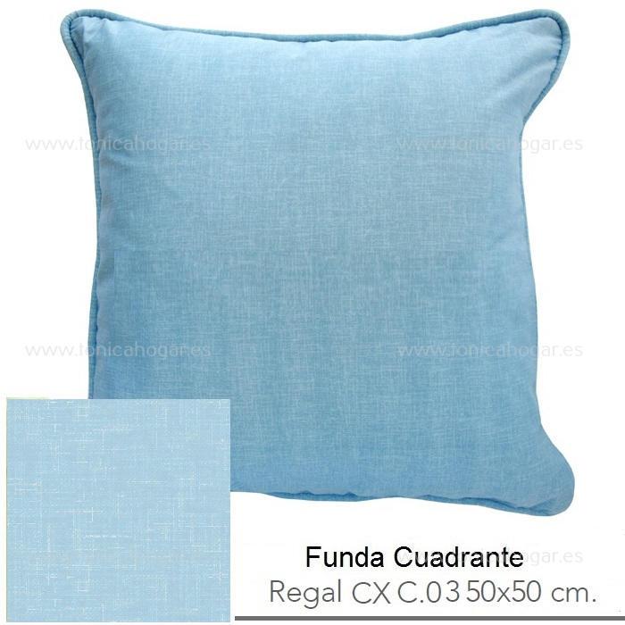 Funda Cuadrante (sin relleno) Regal CX de Reig Marti Celeste Funda Cojín 50x50