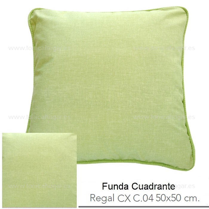 Funda Cuadrante (sin relleno) Regal CX de Reig Marti Verde Manzana Funda Cojín 50x50