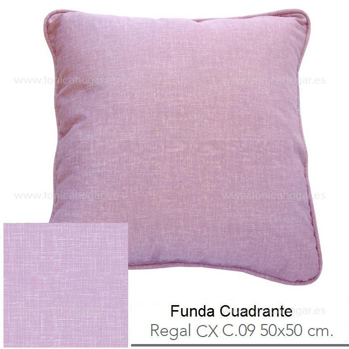 Funda Cuadrante (sin relleno) Regal CX de Reig Marti Violeta Funda Cojín 50x50