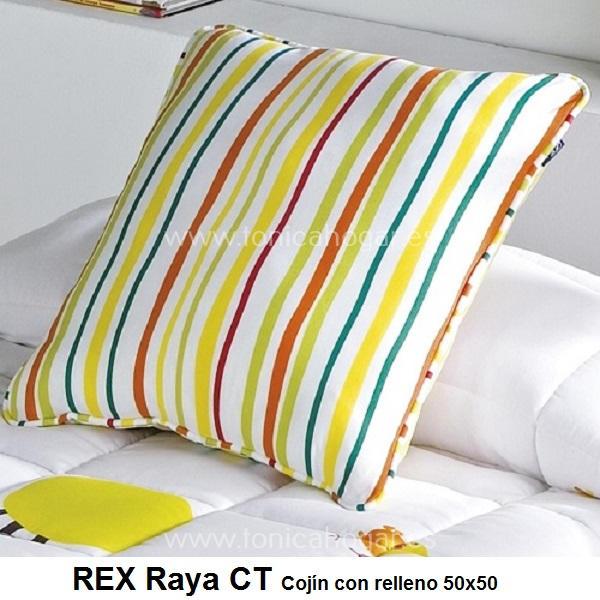 Cojín Infantil REX STRIPE de CAÑETE Multicolor Cojín 50x50
