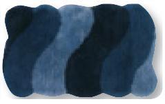 Alfombra de Baño Rio de Sorema Azul Alf.Baño 60x100