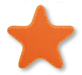 Aplique bañera STAR de Sorema Naranja Aplique Baño SET 6 PIEZAS