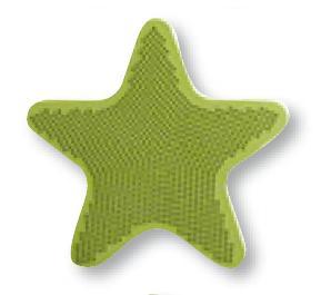 Aplique bañera STAR de Sorema Verde Aplique Baño SET 6 PIEZAS