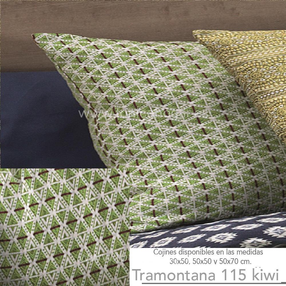 Cojín TRAMONTANA Kiwi de CAÑETE Verde Cojín 30x50 Verde Cojín 50x50 Verde Cojín 50x70