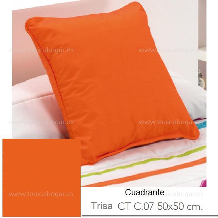 Cuadrante Trisa CT de Reig Marti Naranja Cojín 50x50