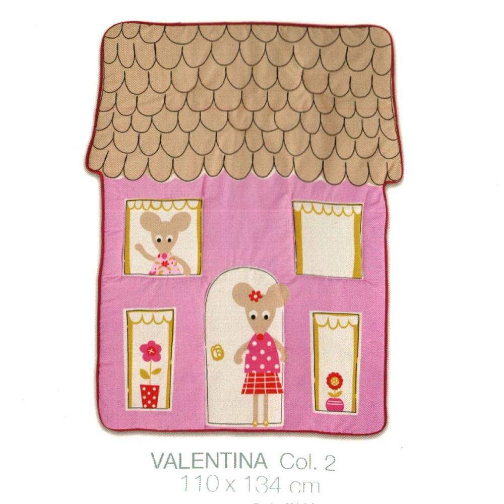 Alfombra Infantil VALENTIA de Scenes. Rosa Alfombra 110x134