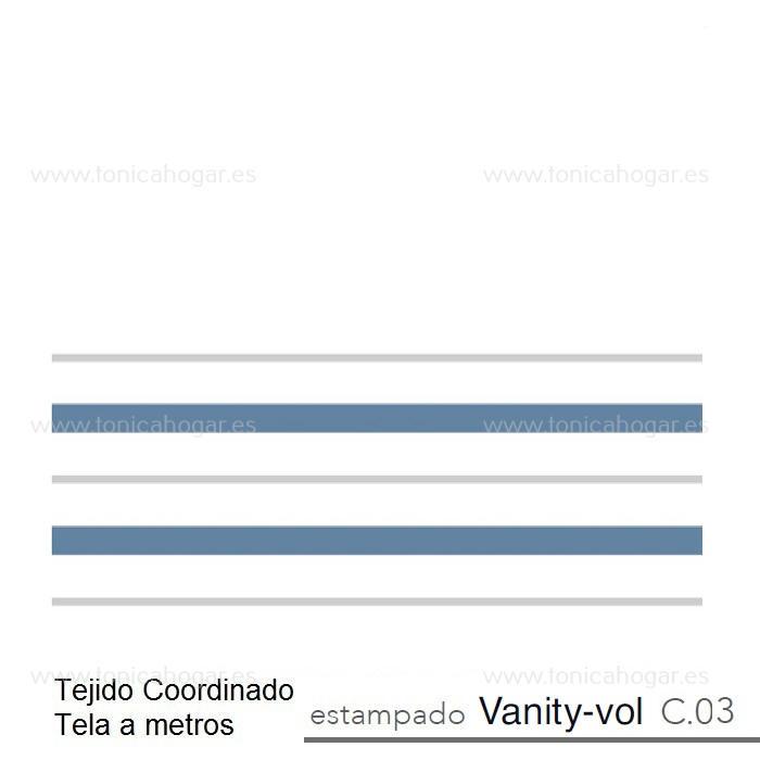 Tejido VANITY VOLANTE MT de Reig Marti Azul Tela Alto 055
