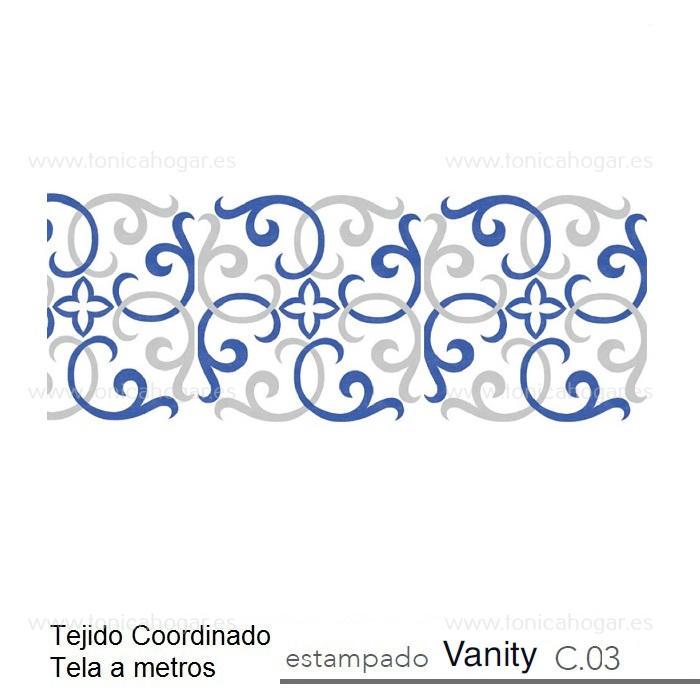 Tejido VANITY MT de Reig Marti Azul Tela Alto 280