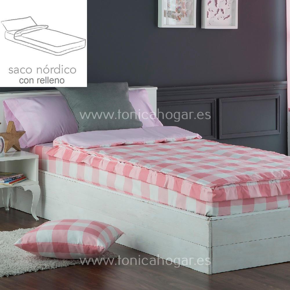 Saco Nordico VICKY Rosa de Sansa Rosa 090 Con Relleno