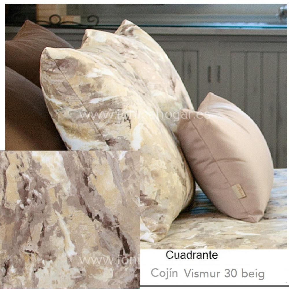 Cojín VISMUR BEIG de CAÑETE Piedra Cojín 30x50 Piedra Cojín 50x50 Piedra Cojín 50x70