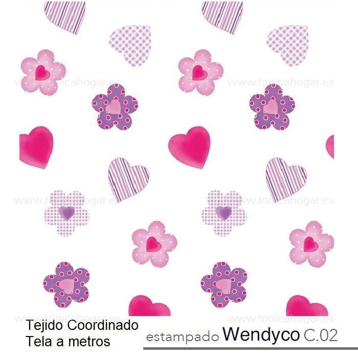 Tejido WENDYCO MT Chicle de Reig Marti chicle Tela Alto 280