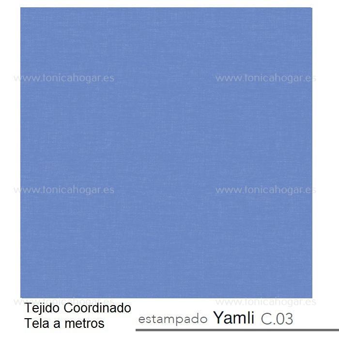 Tejido YAMLI MT Azul de Reig Marti Azul Tela Alto 280