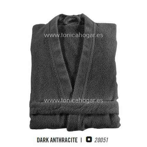 Albornoz de Baño BEE WAFFLE KIMONO AB de Graccioza Dark Anthracite Talla M Dark Anthracite Talla L Dark Anthracite Talla XL