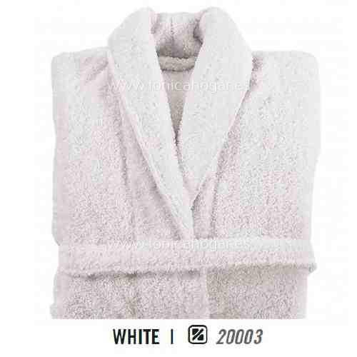 Albornoz de Baño LONG DOUBLE LOOP AB de Graccioza White Talla M White Talla L White Talla XL
