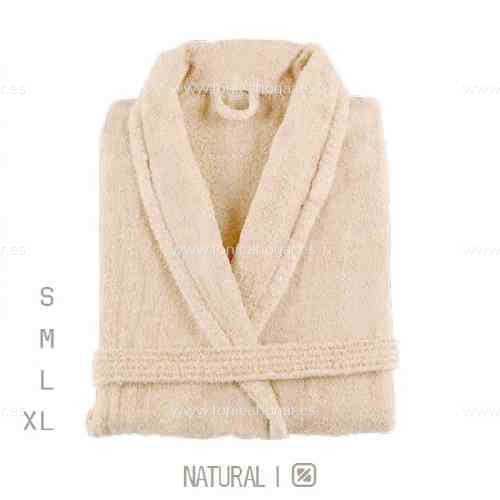 Albornoz Baño NEWPLUS AB de Sorema Natural Talla S Natural Talla M Natural Talla L Natural Talla XL
