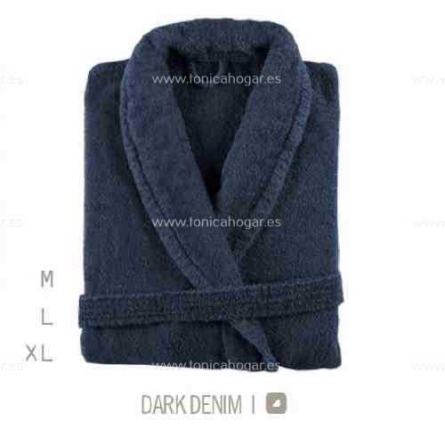 Albornoz Baño NEWPLUS AB de Sorema Dark Denim Talla M Dark Denim Talla L Dark Denim Talla XL