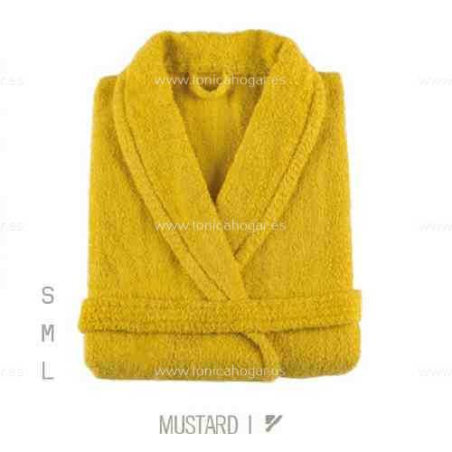 Albornoz Baño NEWPLUS AB de Sorema Mustard Talla S Mustard Talla M Mustard Talla L
