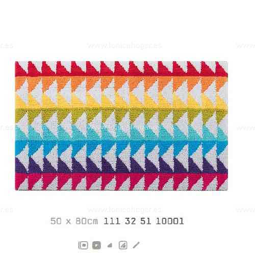 Alfombra Baño BLOCK AM de Sorema Multicolor Alf.Baño 50x80