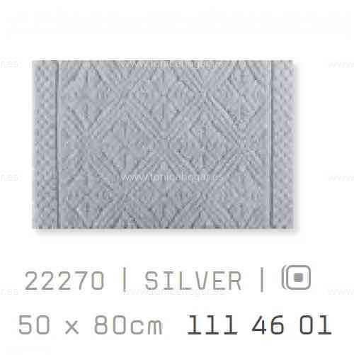 Alfombra Baño RETRO AM de Sorema Silver Alf.Baño 50x80