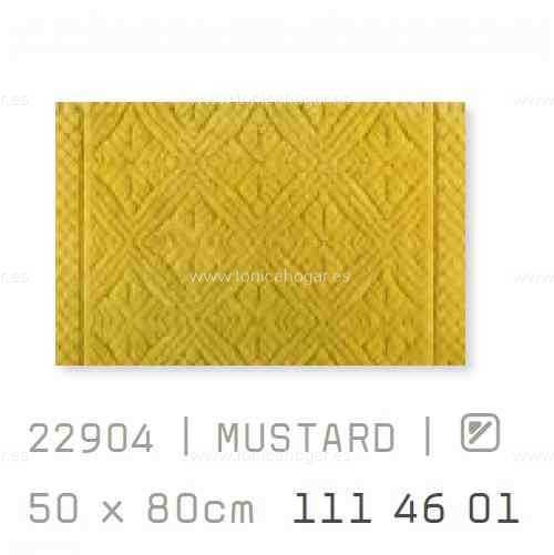 Alfombra Baño RETRO AM de Sorema Mustard Alf.Baño 50x80