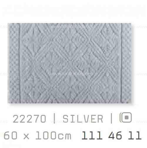 Alfombra Baño RETRO AM de Sorema Silver Alf.Baño 60x100