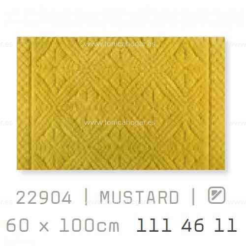 Alfombra Baño RETRO AM de Sorema Mustard Alf.Baño 60x100
