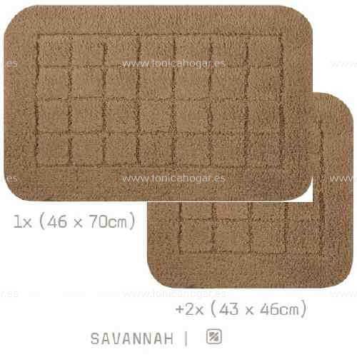 Alfombra Baño VIENA AM de Sorema Savannah Set Alf Baño 1x(46x70) 2x(43x46)