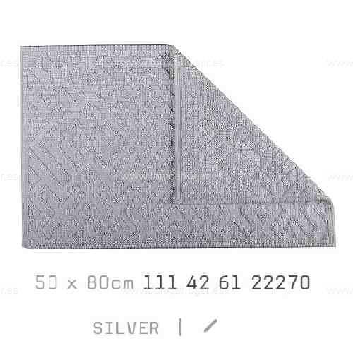 Alfombrilla Baño CROSS AM de Sorema Silver Alf.Baño 50x80