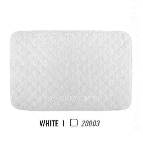Alfombrilla de Baño LONG DOUBLE LOOP AM de Graccioza White Alf.Baño 50x80