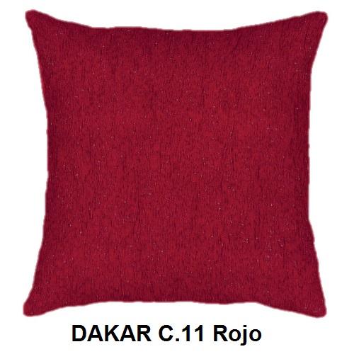 Cojín DAKAR de CAÑETE C.11 Rojo Cojín 30x50 Cojín 50x50 Cojín 50x70