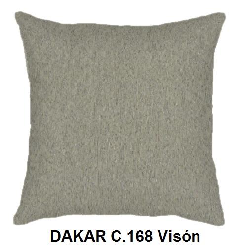 Cojín DAKAR de CAÑETE C.168 Vison Cojín 30x50 Cojín 50x50 Cojín 50x70